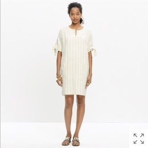Madewell Tie-Sleeve Dress in Stripe